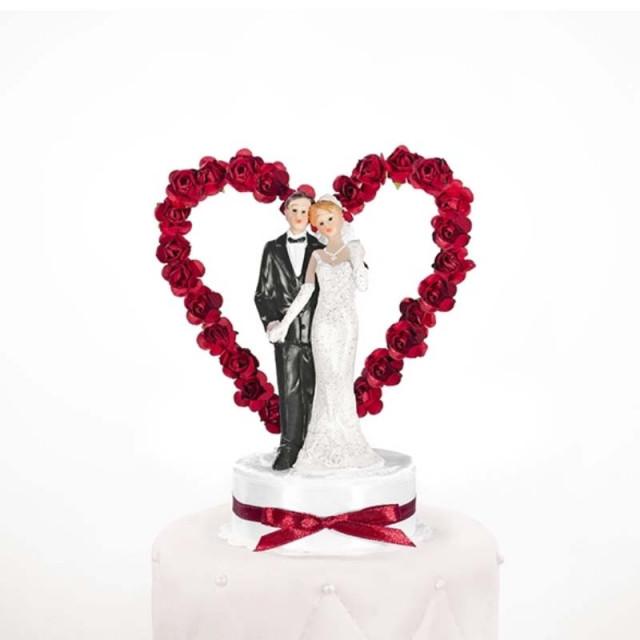 Figurine Couple Mariage Coeur Rouge