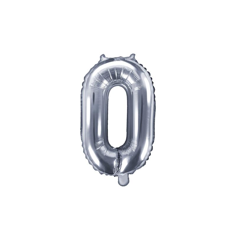 Ballon Chiffre 0 Argent