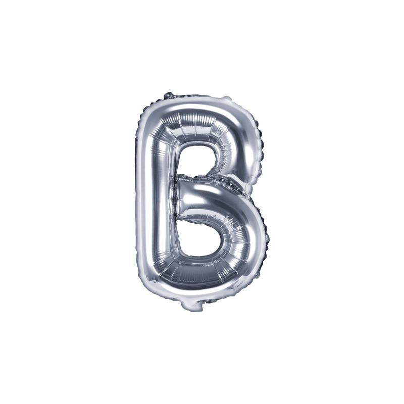 Ballon lettre B Argent