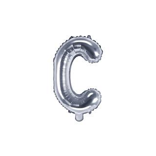 Ballon lettre C Argent