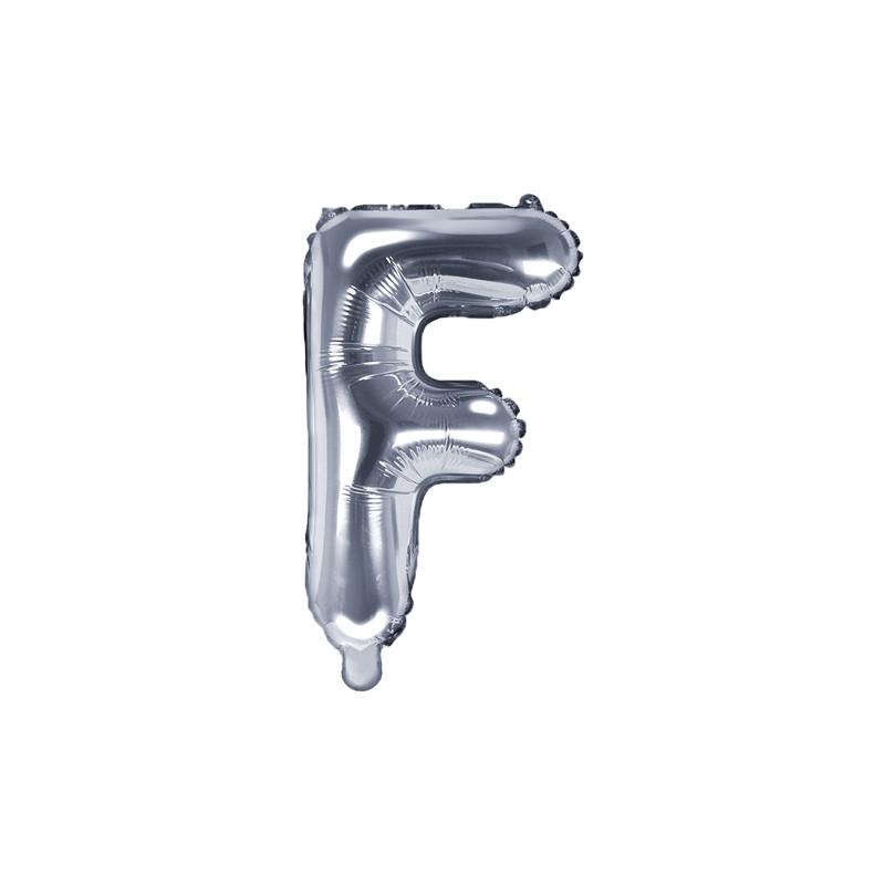 Ballon lettre F Argent