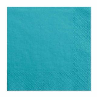 x20 Serviettes Papier Turquoise