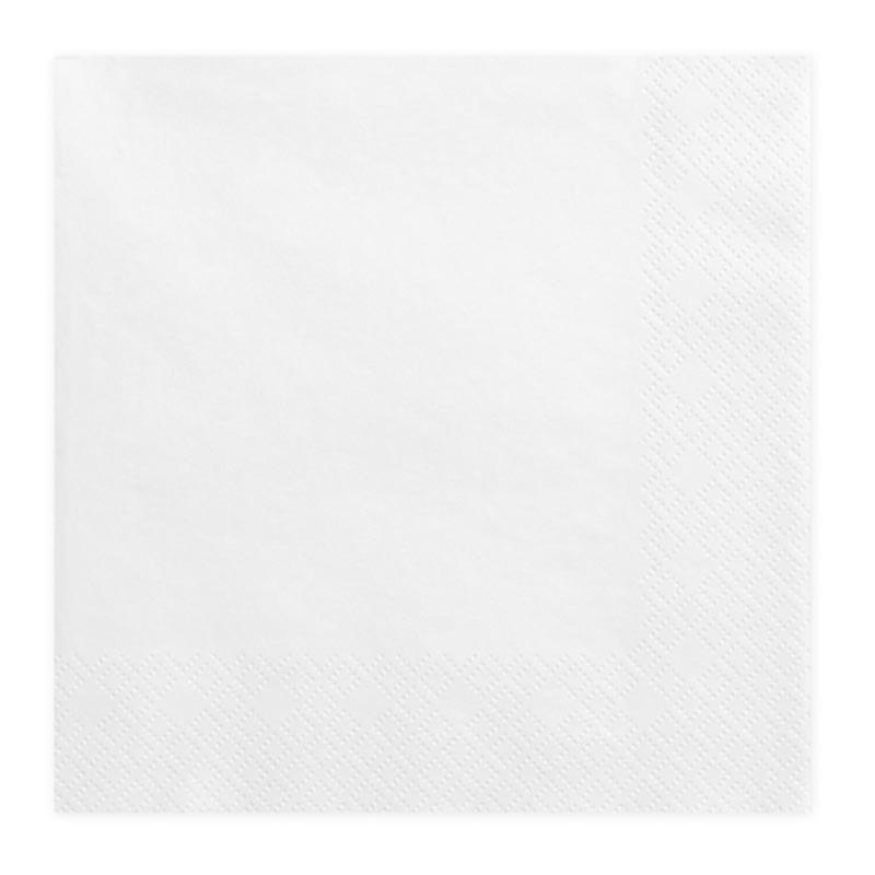 x20 Serviettes en papier Blanc