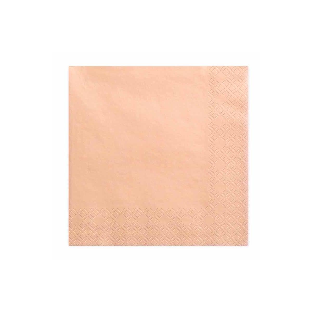 x20 Serviettes Papier Saumon