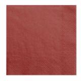 x20 Serviettes Papier Rouge