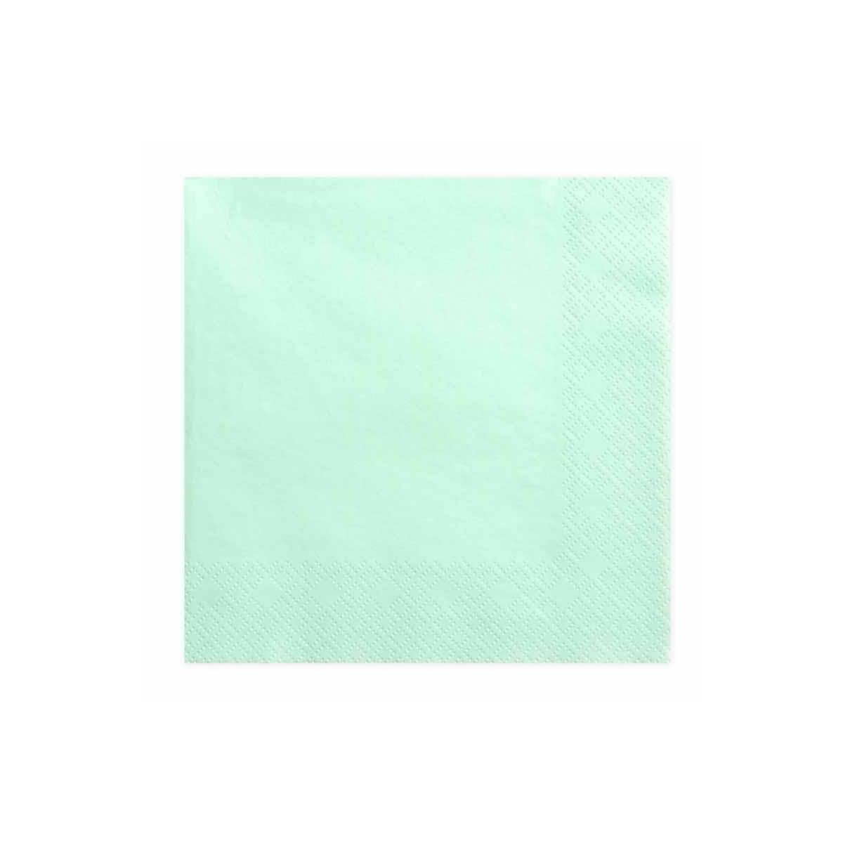 x20 Serviettes Papier Vert Menthe