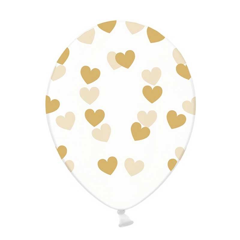 6 x ballons heart or