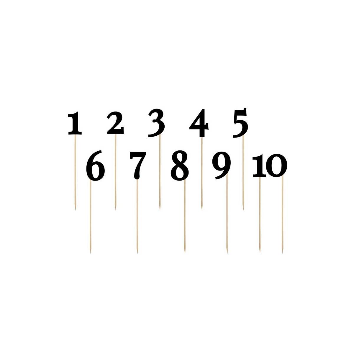 Numéro de table Noir de 0-9