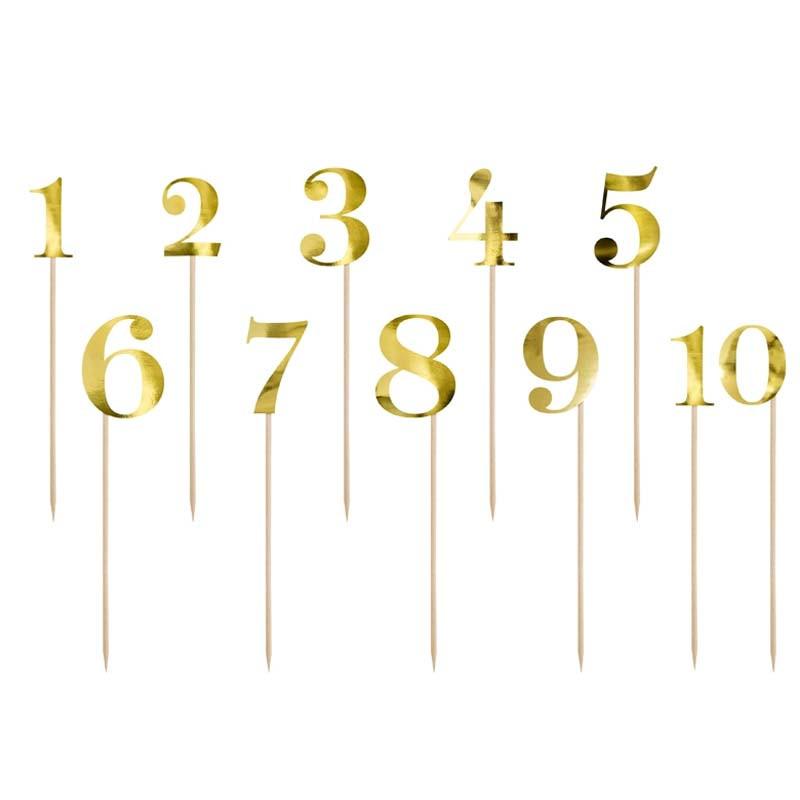 Numéro de table Or de 0-9
