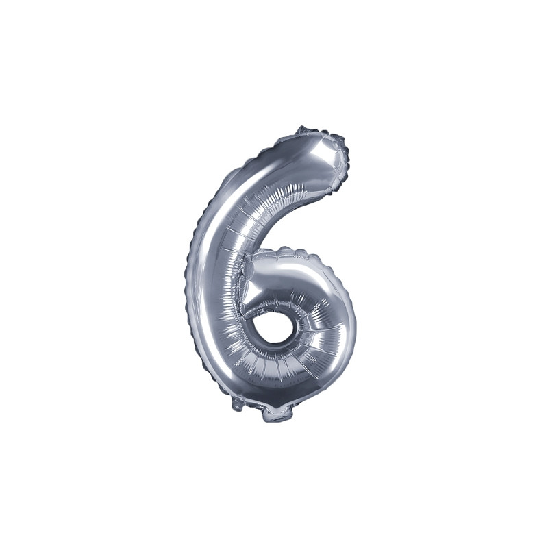 Ballon Chiffre 6 Argent