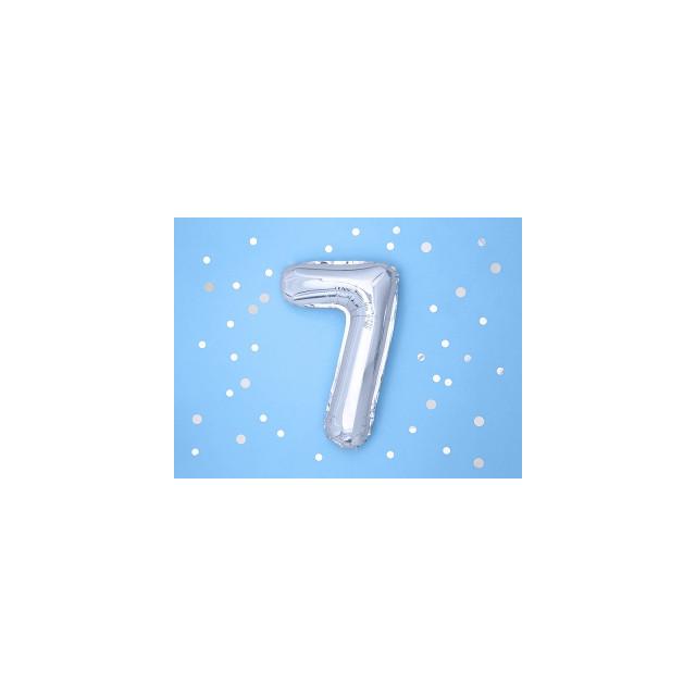 Ballon Chiffre 7 Argent