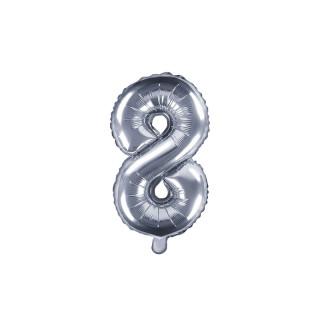 Ballon Chiffre 8 Argent