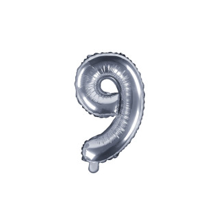 Ballon Chiffre 9 Argent