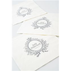 SERVIETTES EN PAPIER JUST MARRIED