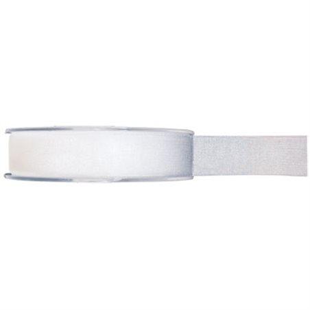 Ruban Organdi Blanc - 7 mm