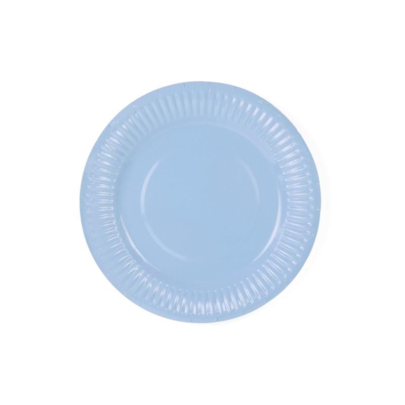 x6 Assiettes Bleu Ciel