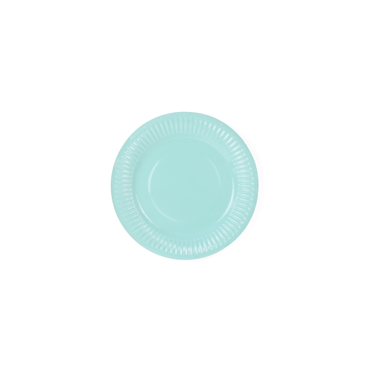 x6 Assiettes Turquoise