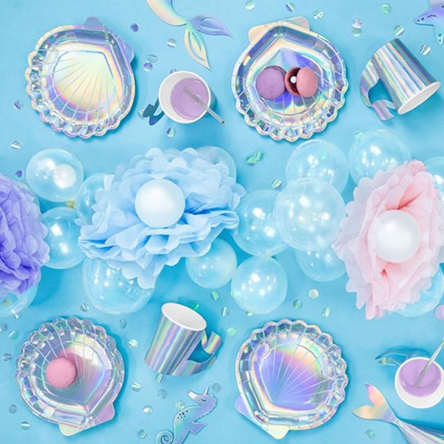 x 6 Gobelets Carton Sirène