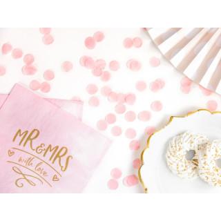 x20 Serviettes papier Rose Mr&Mrs