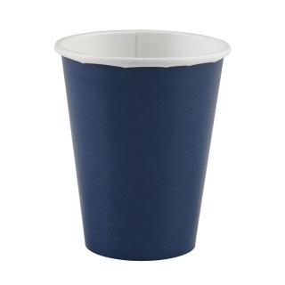 x8 Gobelets carton Bleu Marine