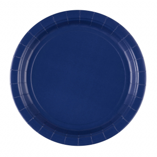 x8 Assiettes carton Bleu Marine