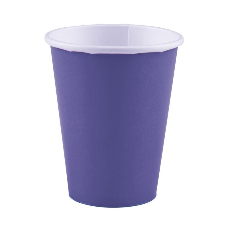 x8 Gobelets carton Violet