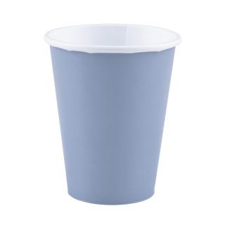 x8 Gobelets carton Bleu Pastel