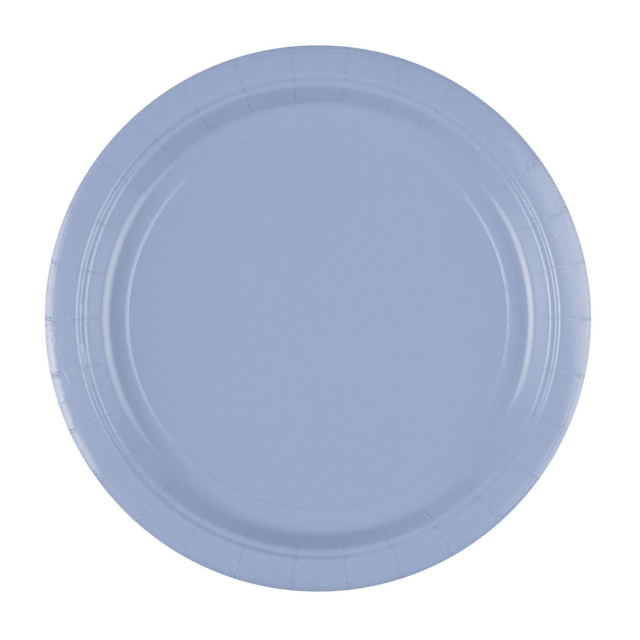 x8 Assiettes carton Bleu Pastel