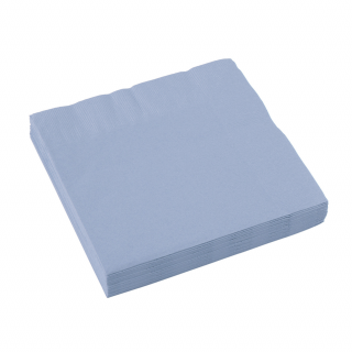 x20 Serviettes en papier Bleu Pastel