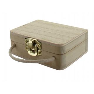 x1 Contenant à dragées valise en bois