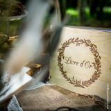 Livre d'Or en bois couronne végétale