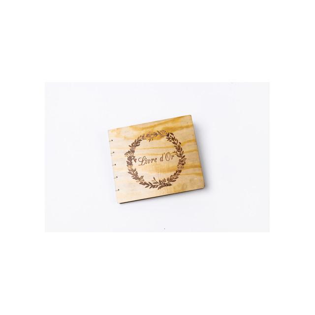 Livre D'or bois couronne végétale