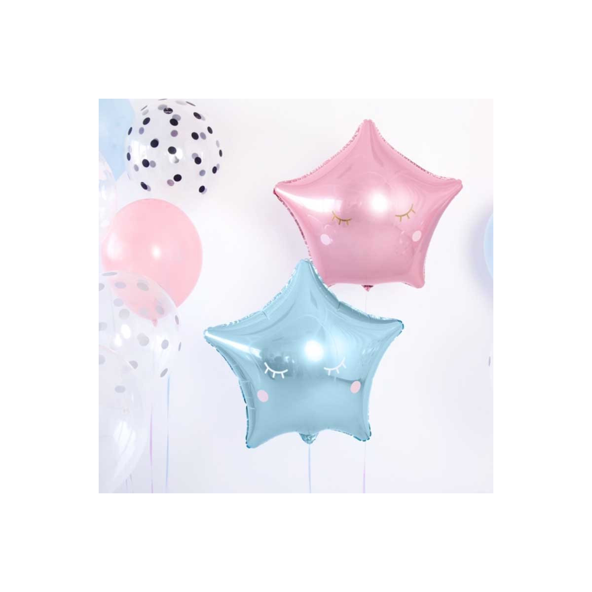 Stickers Yeux Ballons Rose et Or