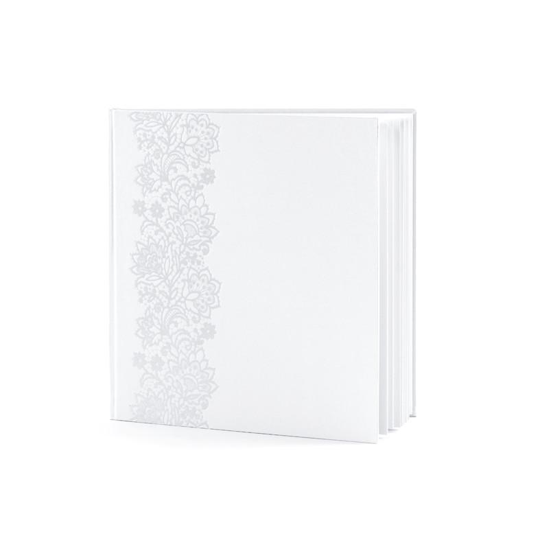 Livre d'Or Blanc et Fleurs