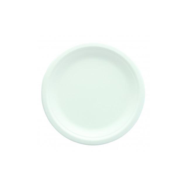 x25 Assiettes Ronde Biodégradable