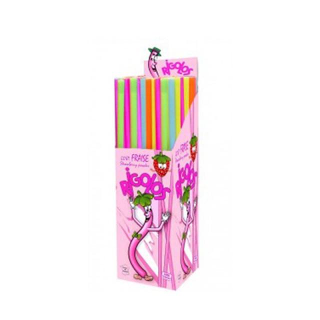 x120 Bonbons Tubes Poudres à la Fraise