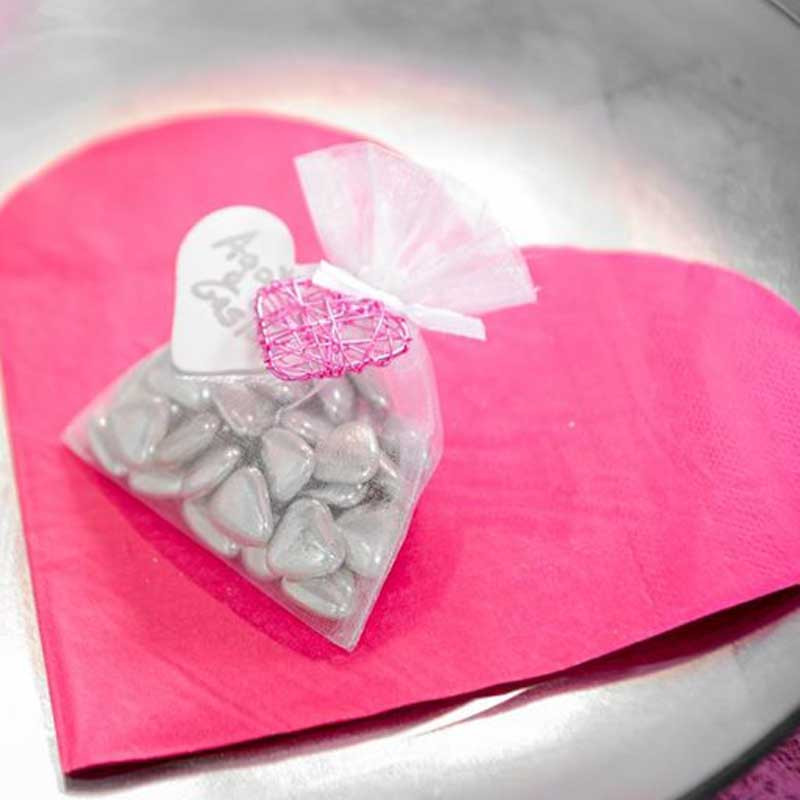 x20 Serviette en cœur papier