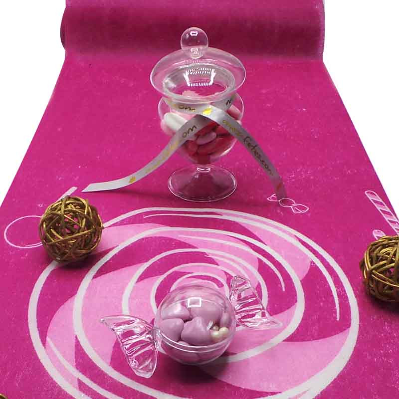 Chemin de table Candy Bar Violet Bonbon