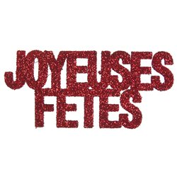 CONFETTIS JOYEUSES FETES ROUGE