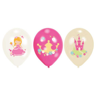 6x Ballon de baudruche Princesse