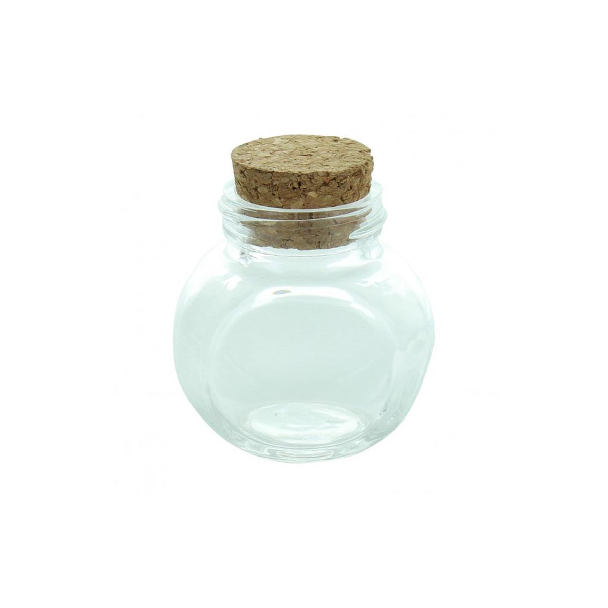 x1 Pot en verre dragées bouchon liège