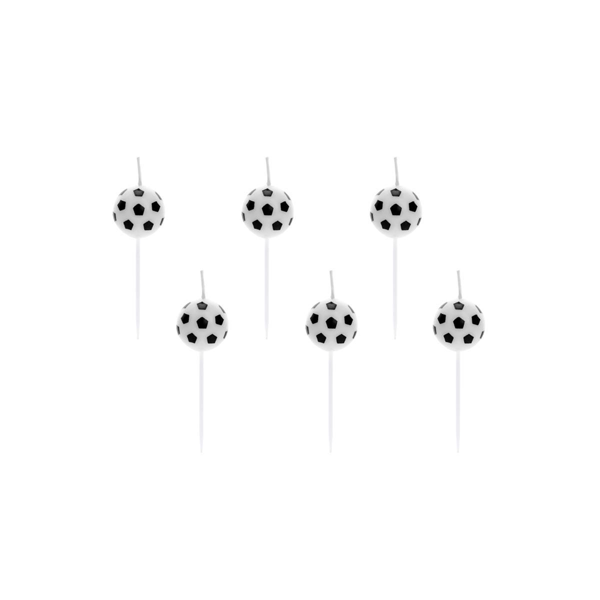 x6 Bougies ballon de foot