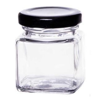 Mini Pot Confiture Couvercle Noir 50 ml
