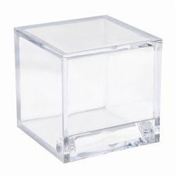 Contenant dragées cube transparent