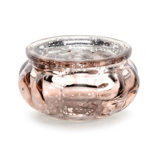 x4 Bougeoire verre Rose Gold 3 cm
