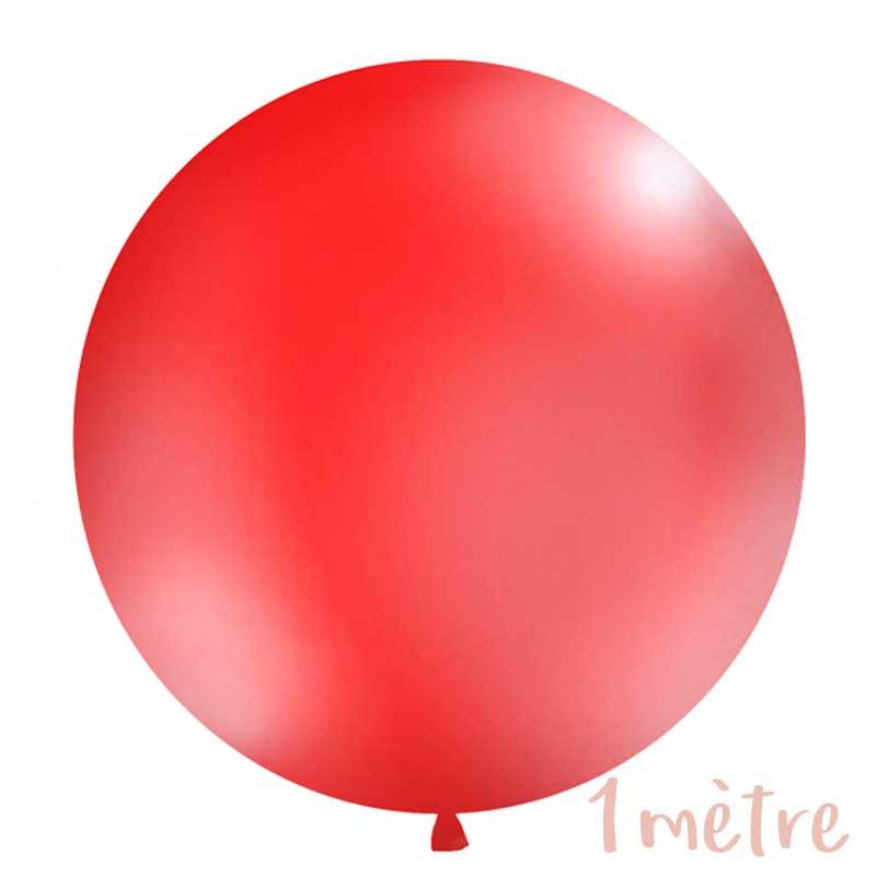 Ballon géant de Baudruche 1 mètre Rouge