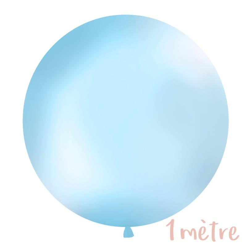 Ballon géant de Baudruche 1 mètre Bleu Ciel