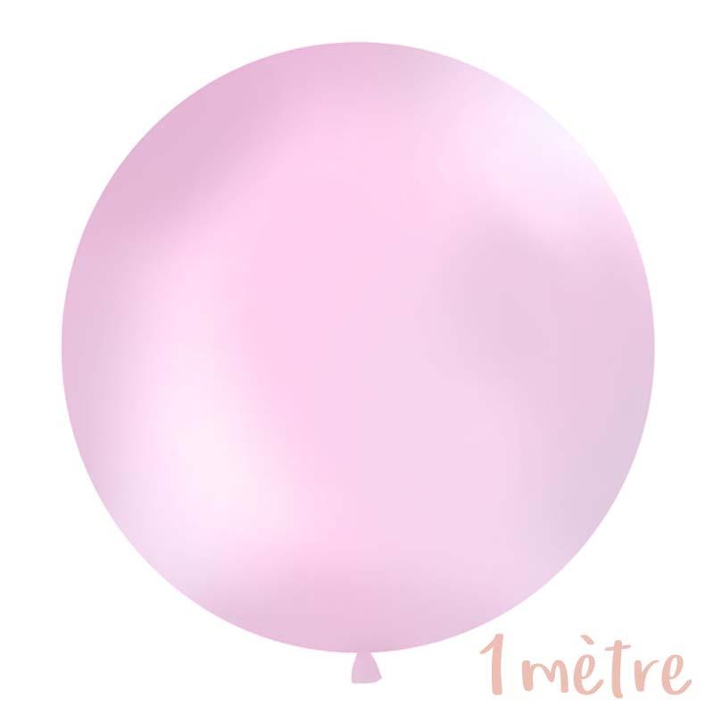 Ballon géant de Baudruche 1 mètre Rose Pastel