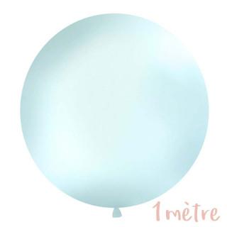 Ballon géant de Baudruche 1 mètre Bleu Pastel