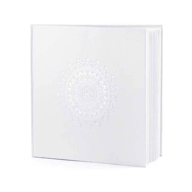 Livre d'Or Blanc Communion IHS